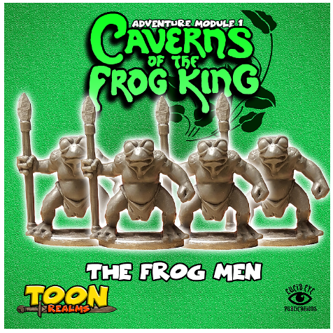 28mm Fantasy: Caverns of the Frog King - The Frog Men (4)