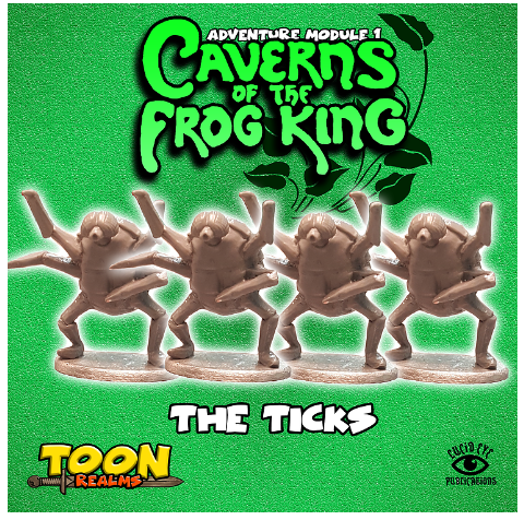 28mm Fantasy: Caverns of the Frog King - The Ticks (4)