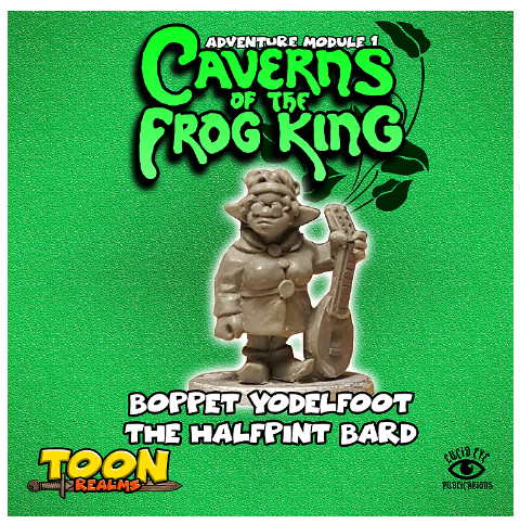 28mm Fantasy: Caverns of the Frog King - Boppet Yodelfoot The Halfpint Bard