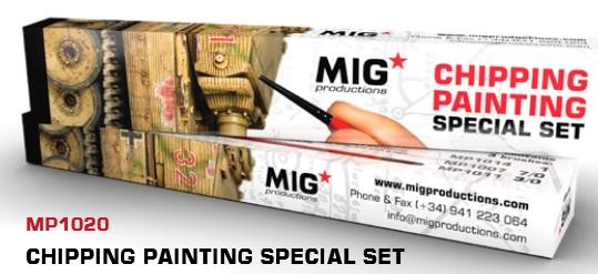 MIG Productions: Marta Kolinsky High Quality Modeling Brushes - Chipping Painting Special Set
