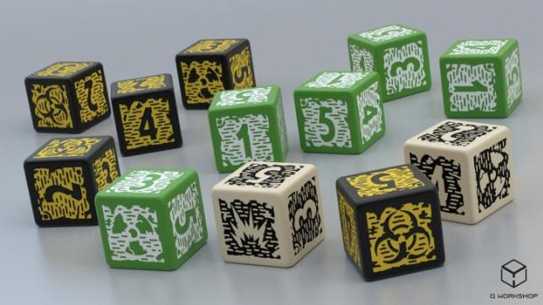 Mutant Year Zero: Dice Set (12) - New 2019 Design
