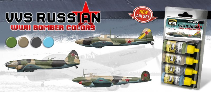 AMMO: Acrylic Paint Set - VVS Russian WWII Bomber Colors