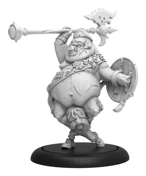 Hordes: (Grymkin) Piggyback Officer – Grymkin Command Attachment (metal/resin)