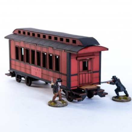28mm Dead Mans Hand: 19th C. American Passender Car (Red)