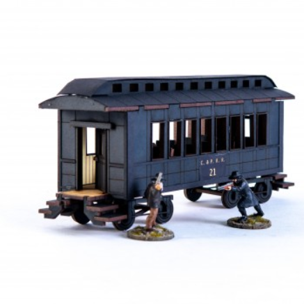 28mm Dead Mans Hand: 19th C. American Passenger Car (Black)
