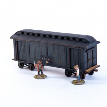 28mm Dead Mans Hand: 19th C. American Baggage Car (Black)