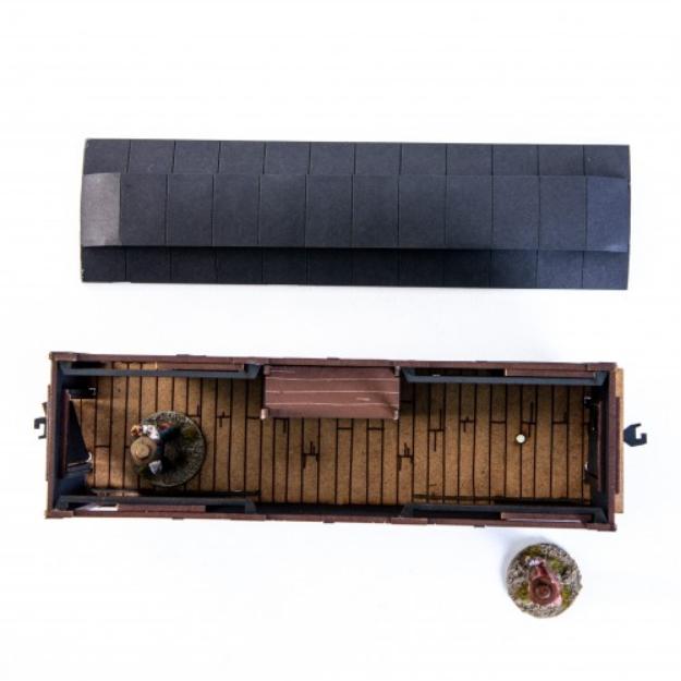 28mm Dead Mans Hand: 19th C. American Baggage Car (Black)