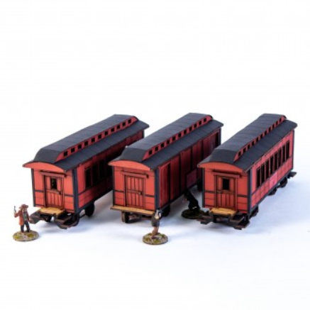 28mm Dead Mans Hand: 19th C. American Passenger Bundle (Red)