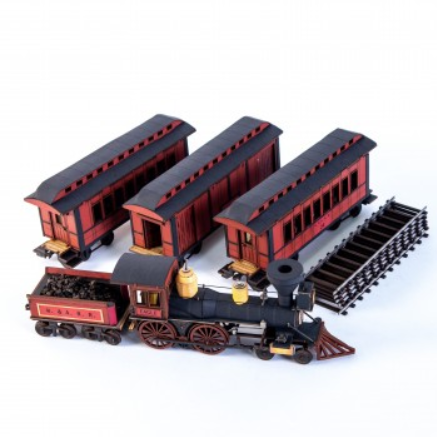 28mm Dead Mans Hand: 19th C. American Passenger Train Set (Red)