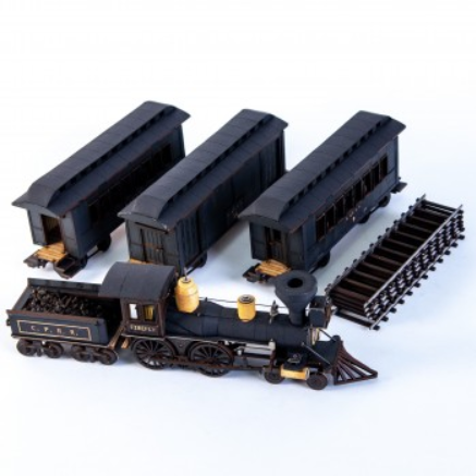 28mm Dead Mans Hand: 19th C. American Passenger Train Set (Black)