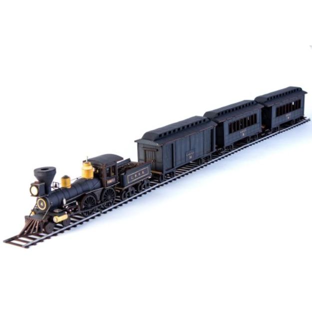 28mm Dead Mans Hand: 19th C. American Passenger Train Set (Black)