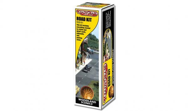 Woodland Scenics: Terain Accessory - Ready Grass Road Kit