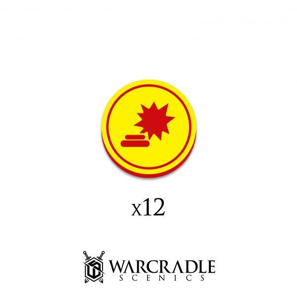 Hero Tokens: Landmine Objective Marker (12)