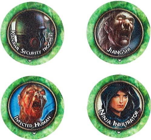 Torg Eternity RPG: Pan Pacifica Threats Tokens