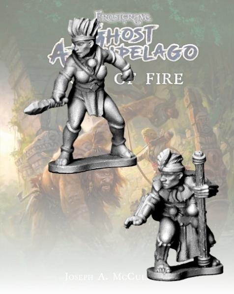 Frostgrave: Ghost Archipelago Tribal Pearl Diver and Guide