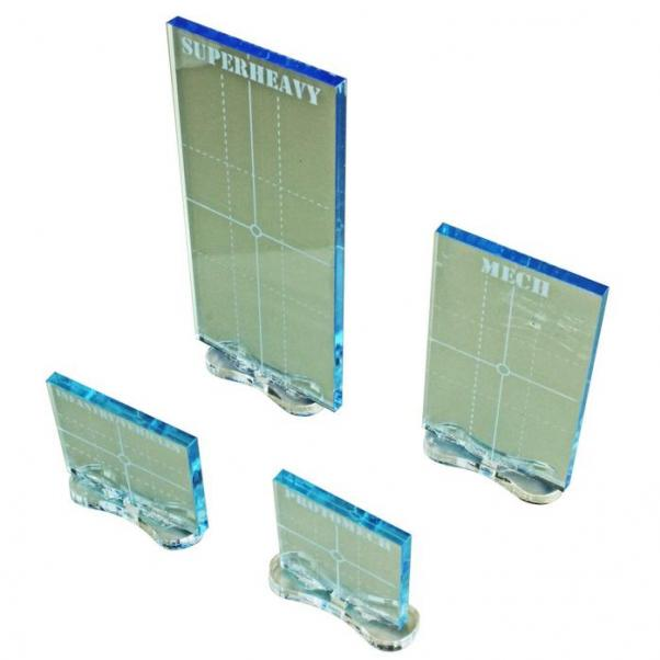 BattleTech: (Accessory) Practical Line of Sight Marker Set - Transparent Light Blue (4)