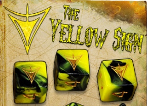 Elder Dice Set: The Yellow Sign d6 Set (Nine d6 in Tube)