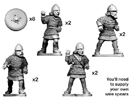 28mm Historical: Dark Ages - Scot Armoured Thanes (8)