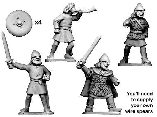 28mm Historical: Dark Ages - Scot Command on Foot (4)