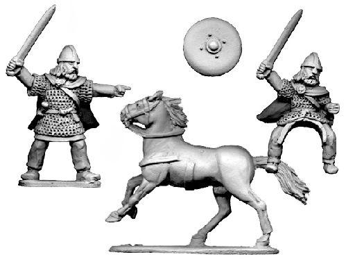28mm Historical: Dark Ages - Scots Chieftain (on foot and mounted)