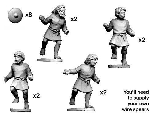 28mm Historical: Dark Ages - Scot Skirmishers (8)