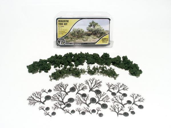 Woodland Scenics: Tree Kits - Medium Green (21/pkg - 3/4'' - 3'')