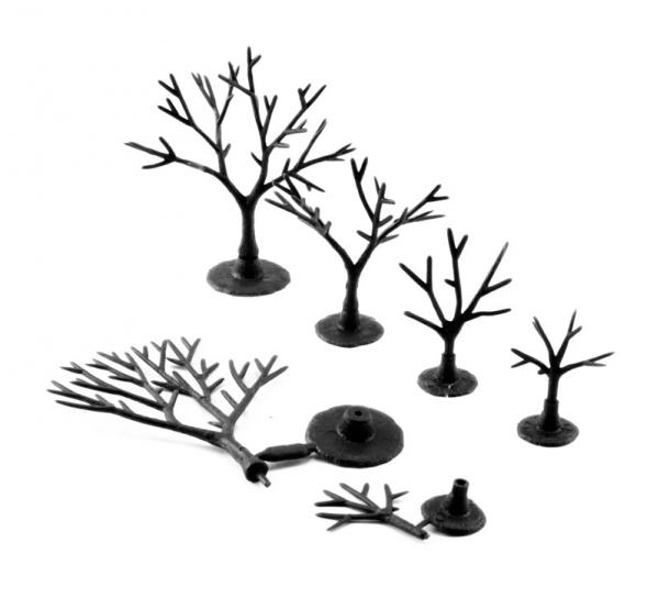 Woodland Scenics: Tree Armatures And Foliage - 3/4'' to 2'' Armatures (Deciduous) (114pcs)