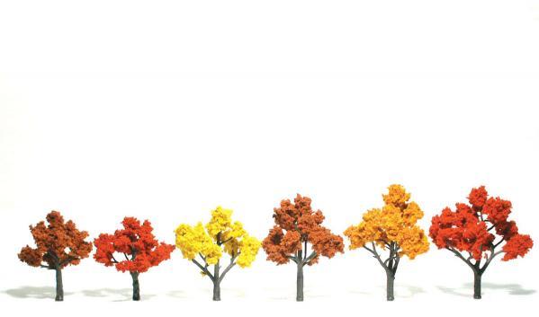 Woodland Scenics: Tree Kits -  Fall Mix (9/pkg - 1 1/4'' - 3'')