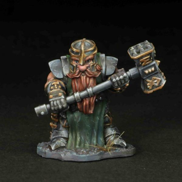 Tomb Guardians 28mm Miniatures: Dwarven Paladin - Davarin Primstone