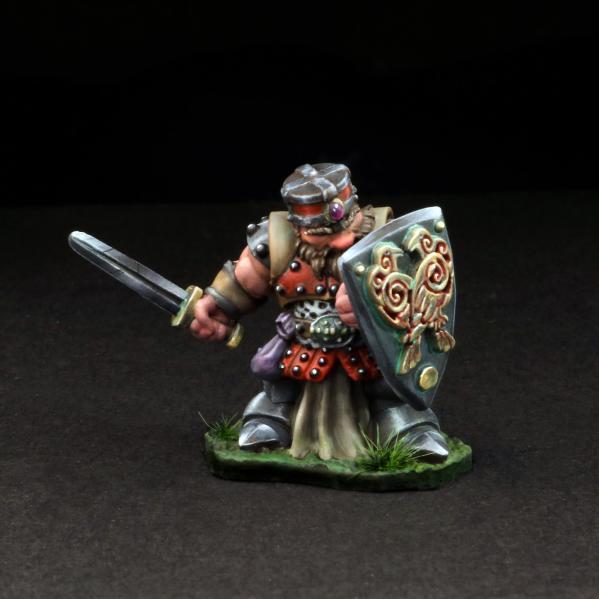 Tomb Guardians 28mm Miniatures: Dwarven Warrior w/Sword - Addus Dardrak