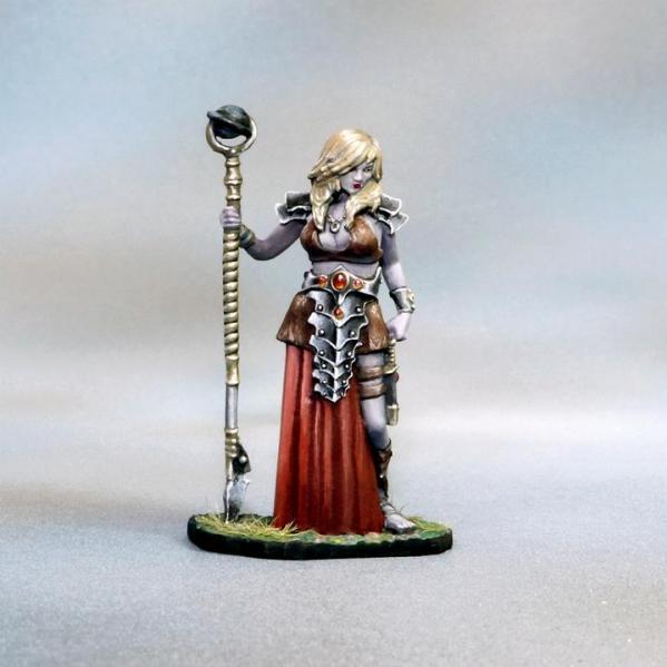 Tomb Guardians 28mm Miniatures: Vampire Cleric - Demetria the Hollow
