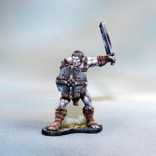 Tomb Guardians 28mm Miniatures: Vampire Barbarian Male Slave - Galon Rhilf
