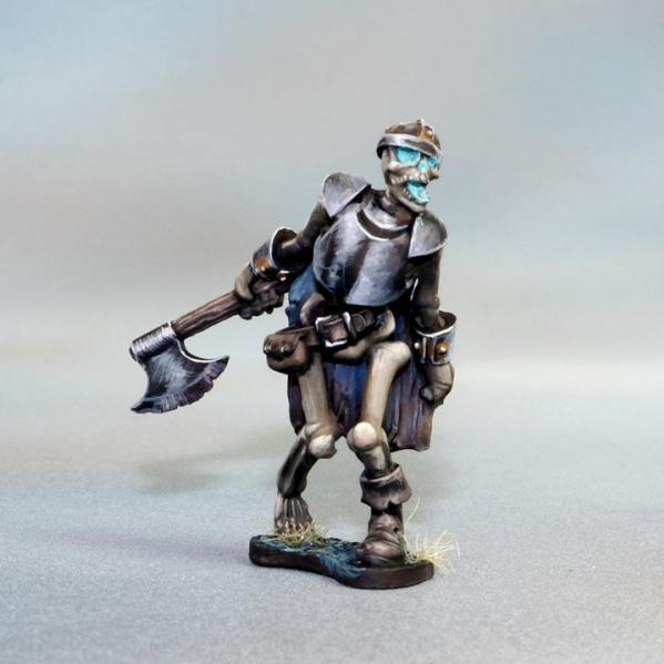 Tomb Guardians 28mm Miniatures: Skeletal Warrior with Axe