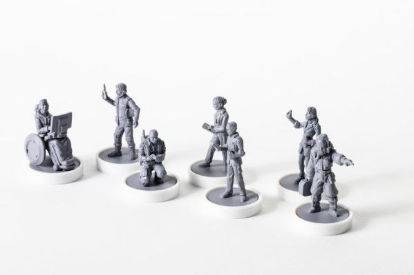 Viral Outbreak Miniatures: Base Team (Miniatures 01-07)