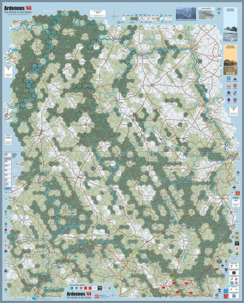 Ardennes '44: Mounted Maps