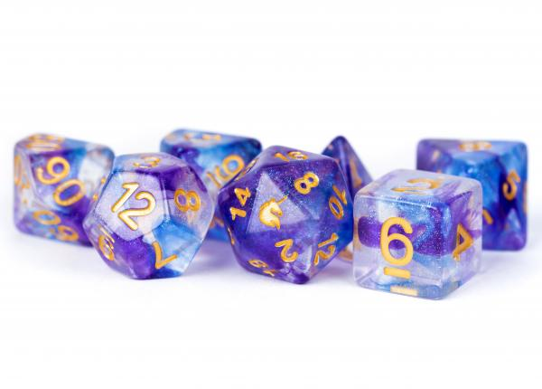 Metallic Dice: Unicorn RESIN Polyhedral Dice Set - Midnight Fantasy (7)