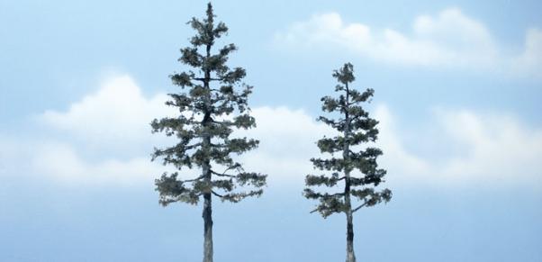 Woodland Scenics: Tree Kits - Premium Pine (2/pkg 5 1/4'', 4'')