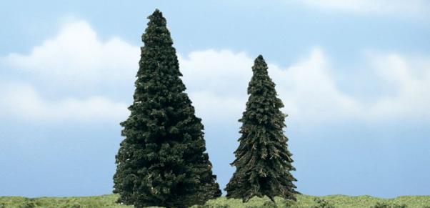 Woodland Scenics: Tree Kits - Premium Evergreen (2/pkg 5 1/4'', 4'')
