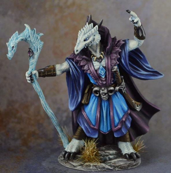 Visions In Fantasy: Male Dragonkin Mage with Staff