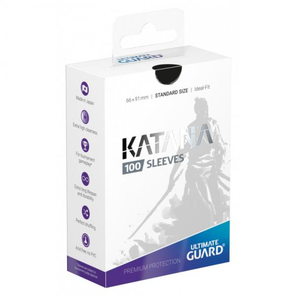 Card Sleeves: Katana Sleeves Standard Size - Black (100)