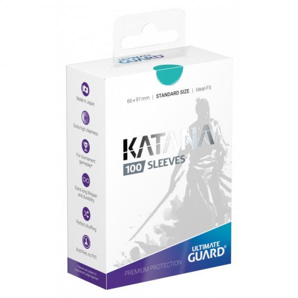 Card Sleeves: Katana Sleeves Standard Size - Turquoise (100)