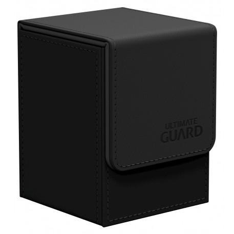Deck Box: Flip 100+ Standard Size Leatherette - Black