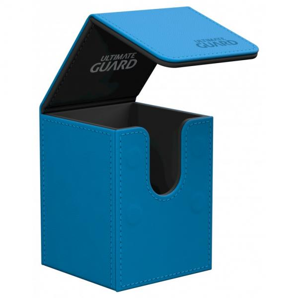 Deck Box: Flip 100+ Standard Size Leatherette - Blue
