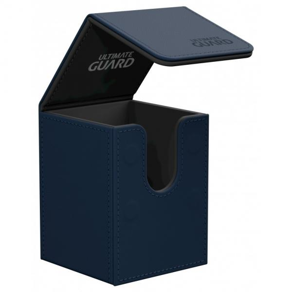 Deck Box: Flip 100+ Standard Size Leatherette - Dark Blue