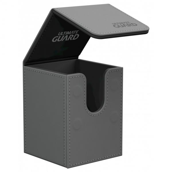Deck Box: Flip 100+ Standard Size Leatherette - Grey