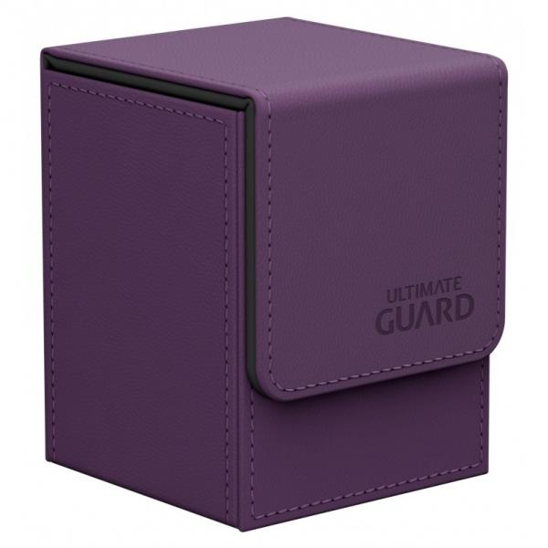 Deck Box: Flip 100+ Standard Size Leatherette - Purple