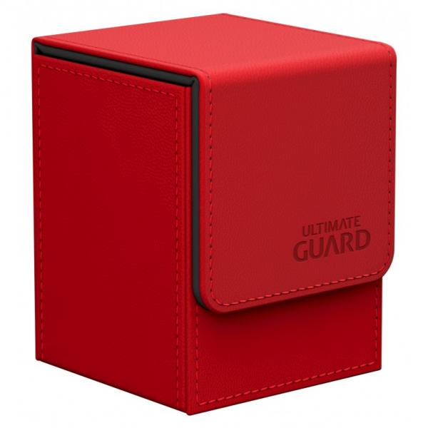 Deck Box: Flip 100+ Standard Size Leatherette - Red