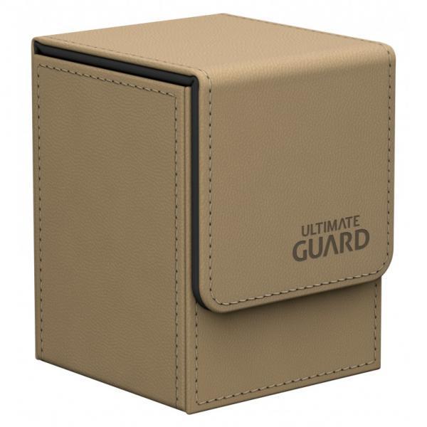 Deck Box: Flip 100+ Standard Size Leatherette - Sand