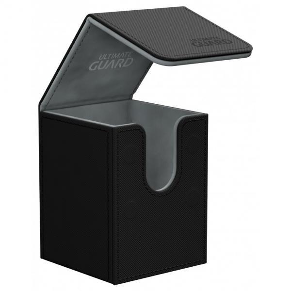 Deck Box: Flip 100+ Standard Size XenoSkin - Black