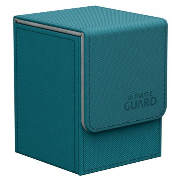 Deck Box: Flip 100+ Standard Size XenoSkin - Petrol (Teal)